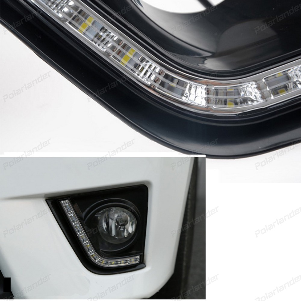 auto part LED DRL car daylight Daytime Running Lights for T/oyota C/orolla 2014 2015 with fog lamp car styling книги эксмо космос