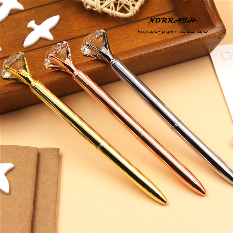 NORRATH Kawaii Cute Metal Diamond Crystal Kuglepen Pen Papirpapir Touch Pen Skoleudstyr Kontor tilbehør