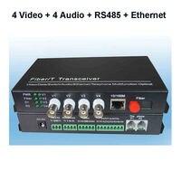 JYTTEK 4 Video 4 Audio with RS485 Data and 10/100M Ethernet Fiber optic Media Converter