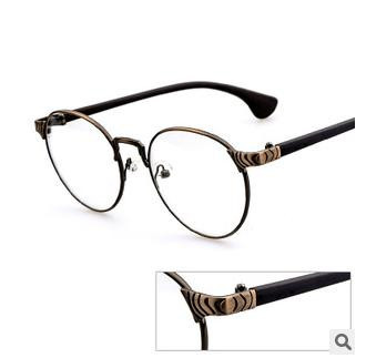 round vintage silhouette titanium alloy eyeglass frames unisex fashion glasses for computer work occhiali telaio spectacle
