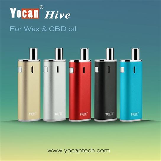 2pcs/lot Yocan Hive Electronic Cigarette Kit Dry Wax or CBD Oil 2 iin 1 Vaporizer e-cigarettes Kits 650mah Battery Wax CBD Oil