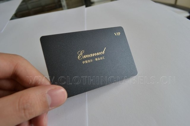 Pvc Card Plastic Business Card Gold Color Printing With Frosted