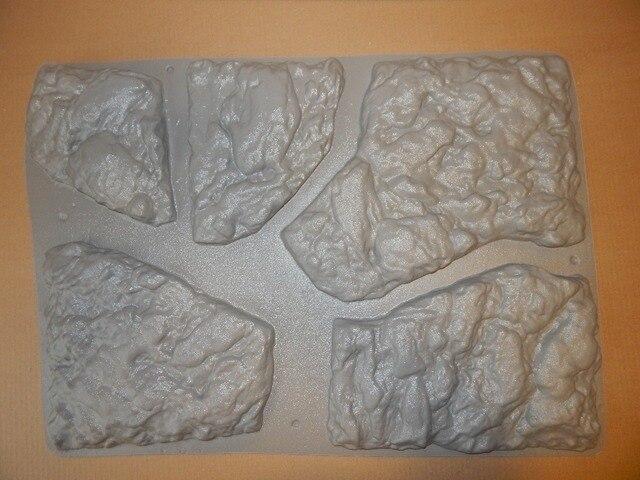 """แม่พิมพ์พลาสติกสำหรับคอนกรีตปูนปลาสเตอร์ผนังหินกระเบื้องซีเมนต์ """"BIG Stone"""" สำหรับตกแต่งแม่พิมพ์พลาสติกที่ดีที่สุดราคา"""