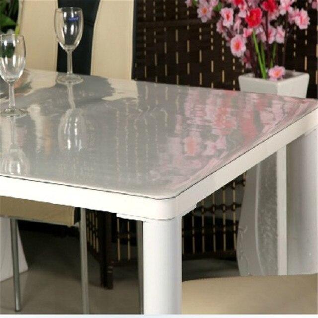 Table en verre chiffon doux nappe pvc imperméable cristal gommage ...