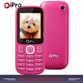 2016 IPRO Brand Mobile Phone 2.0 Inch MTK Unlocked Phones Celular Keyboard Dual SIM Cards Bar Cell Phone For Elders Wholesale