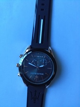 Maserati Quartz Wristwatches Casual Water Resistant Watches Round Stainless Steel Dial Business Complete Calendar Watch 45615478