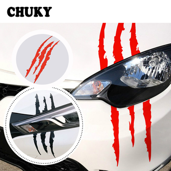 CHUKY Car Styling Scratch Stripe Stickers Car Headlight For Renault Megane 2 Captur Mitsubishi ASX Jeep Wrangler Peugeot 207 508 image
