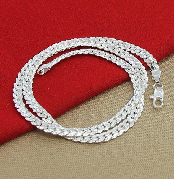 LJ & OMR Gümüş zəncir yaxası 925 Sterling Gümüş Boyunbağı - Moda zərgərlik - Fotoqrafiya 4