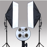 Photography Studio Kits 6 Pcs Photo Studio Lighting Kit With 1 Softbox 1 4in1 Bulb Socket
