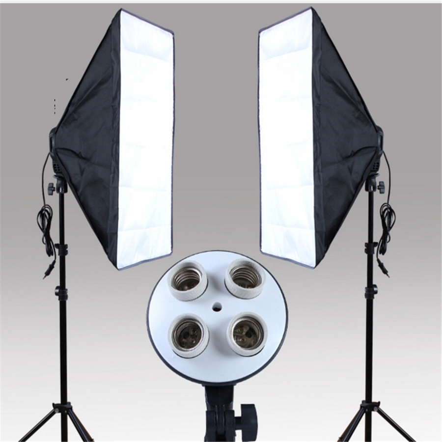 Photography Studio Kits 3 pcs Photo Studio Lighting Kit with 1*Softbox / 1*4in1 Bulb Socket  / 1* Light Stand skullies