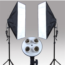 Photography Studio Kits 3 pcs Photo Studio Lighting Kit with 1*Softbox / 1*4in1 Bulb Socket  / 1* Light Stand