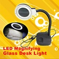 36 LEDs Lights Magnifying Glass LED Light Lamp Handheld Desk Magnifying LED Table Light Magnifier Glass FEN#