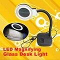 36 LEDs Luzes Lupa CONDUZIU a Lâmpada de Luz Portátil Desk Mesa de Luz Lupa Lupa LED Vidro FEN #