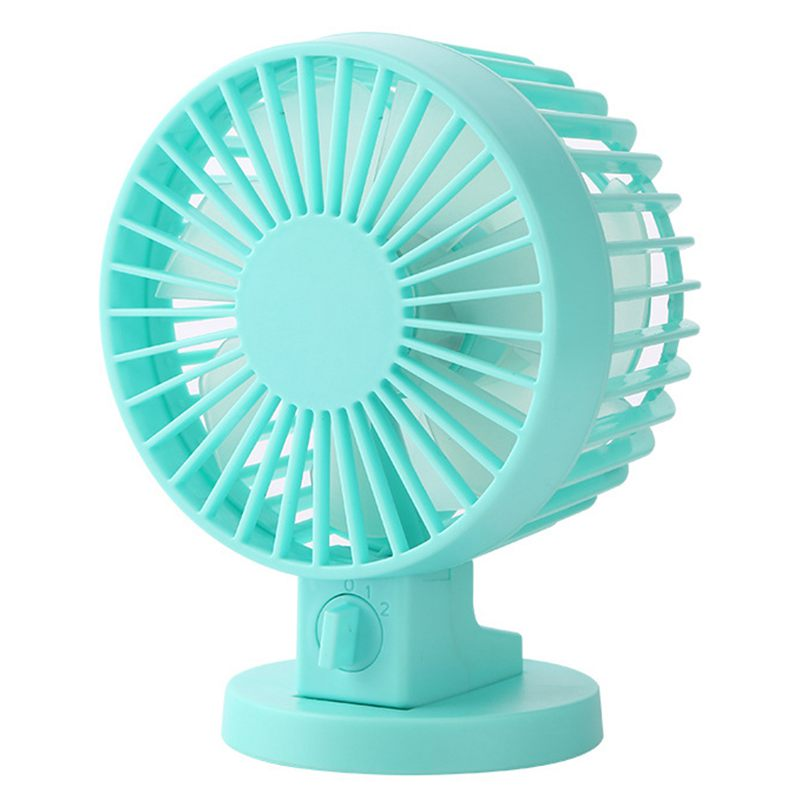 Color : White Mini USB Table Desk Personal Fan Fan USB Double Leaf Small Portable Student Dormitory Small Fan Metal Design Quiet Operation USB Cable Fan
