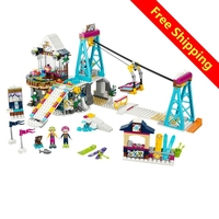 Lepin 01042 Friends 632pcs Building Blocks Snow Resrot Ski Lift Girls Toys Kids Bricks Toy Girl