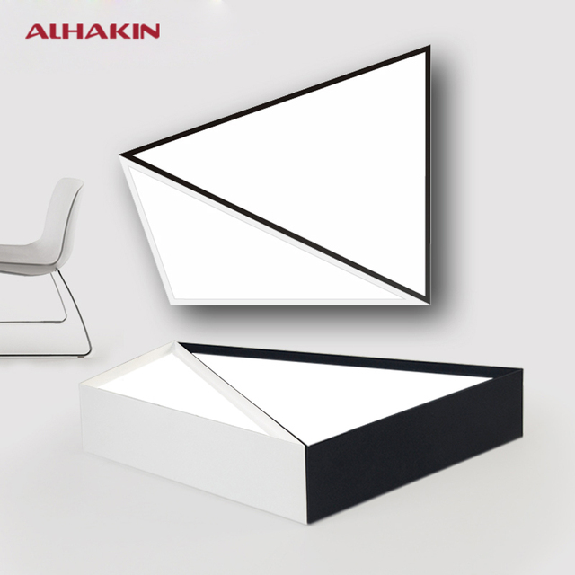 Modern Geometric Figure Diy Led Kitchen Lighting Fixtures Black White 12 20w Acrylic Ceiling