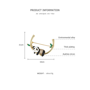 Image 5 - ZEGL дизайнерская брошь в виде панды, милый свитер, эмаль, украшение, креативные, дикие, фиксированные булавки для одежды