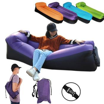 2018 Trend Outdoor Products Fast Infatable Sofa Air Bed Good Quality Sleeping Bag Inflatable Air Bag Lazy Bag Beach Sofa Lay Bag
