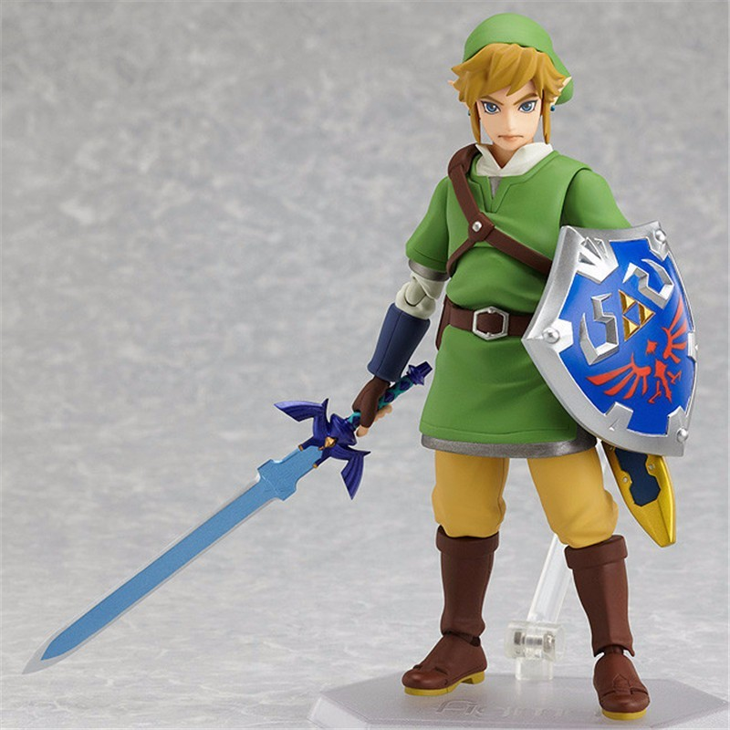 Anime The Legend of Zelda Skyward Sword Link Figma 153 PVC Action Figure Collectible Model Kids Toys Doll 14cm anime the legend of zelda 2 a link between worlds link figma 284 pvc action figure collectible model kids toys doll 10 5cm