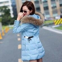 Winter Jacket Women 100% Down Cotton Jackets Fake Fur Women's Casual Thicken Warm Overcoat 2016 New Arrival  Coat Hooded Parkas