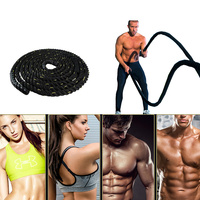 Heavy Black Undulation Battling Rope Gym Workout Training Rope Sport Fitness Equipment Slimming Fat Burning Muscle Exercise HWC