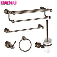 bath accessories Toilet rack Brass material With jade Europe type restoring ancient ways Luxury diamond bathroom ShinTong