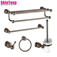 bath accessories Toilet rack Brass material With jade Europe type restoring ancient ways Luxury diamond bathroom ShinTong