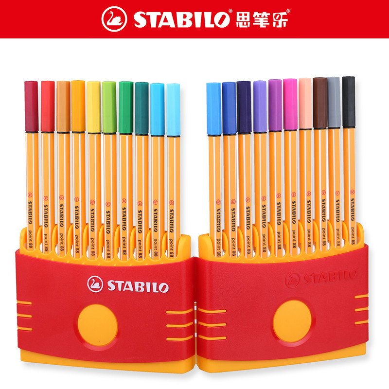 STABILO Point 88 Fineliner Fiber Pen Art Marker 0.4mm Felt Tip Pen Fine Sketch Scriptliner Needle Technical Pen Gel Pen Marker