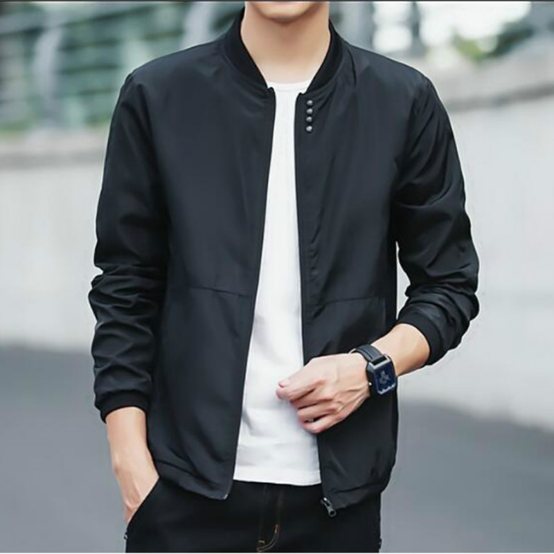 2019 spring and autumn new casual simple fashion men's slim bomber jacket men's stand collar baseball jacket coat men's clothing