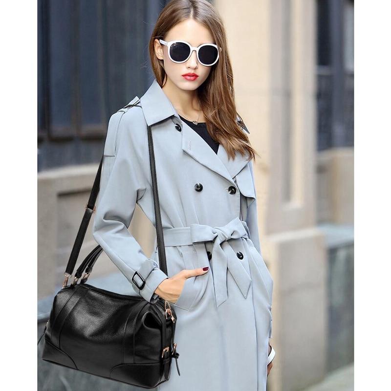 Bag Female Shoulder Bag Soft Leather Handbag Vintage Messenger Bag Motorcycle Crossbody Bags LL555