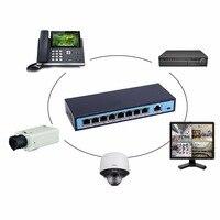 8 Portas 10/100 Mbps Switch POE Ethernet Adaptativa Porta RJ45 Padrão Dispositivo de Rede POE Switches de Rede de Alta Qualidade