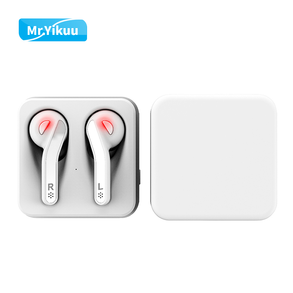 Double Ear Stereo Music Earphone Bluetooth 5.0 Headset Wireless Earbuds With Charging Box For iPhone 5s 6 7 X Android Xiaomi LG tws 5 0 bluetooth earphone touch control stereo music in ear type ipx6 waterproof wireless earbuds with charging box yz209