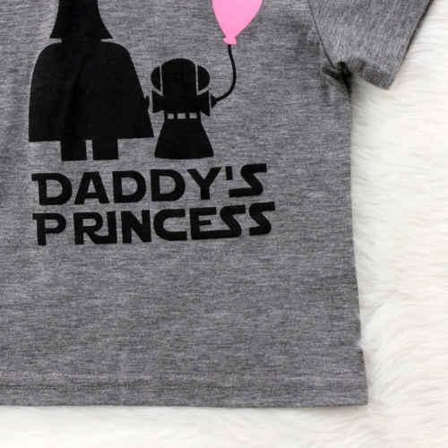 0f57dcace ... Newborn Kids Baby Girls Daddy's Princess T-shirt Tee Soft Cotton  Graphic Tees