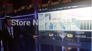 "Interactive Touch foil 42"" transparent multi touch film , 10 points Capacitive / soft and interactive touch screen film"