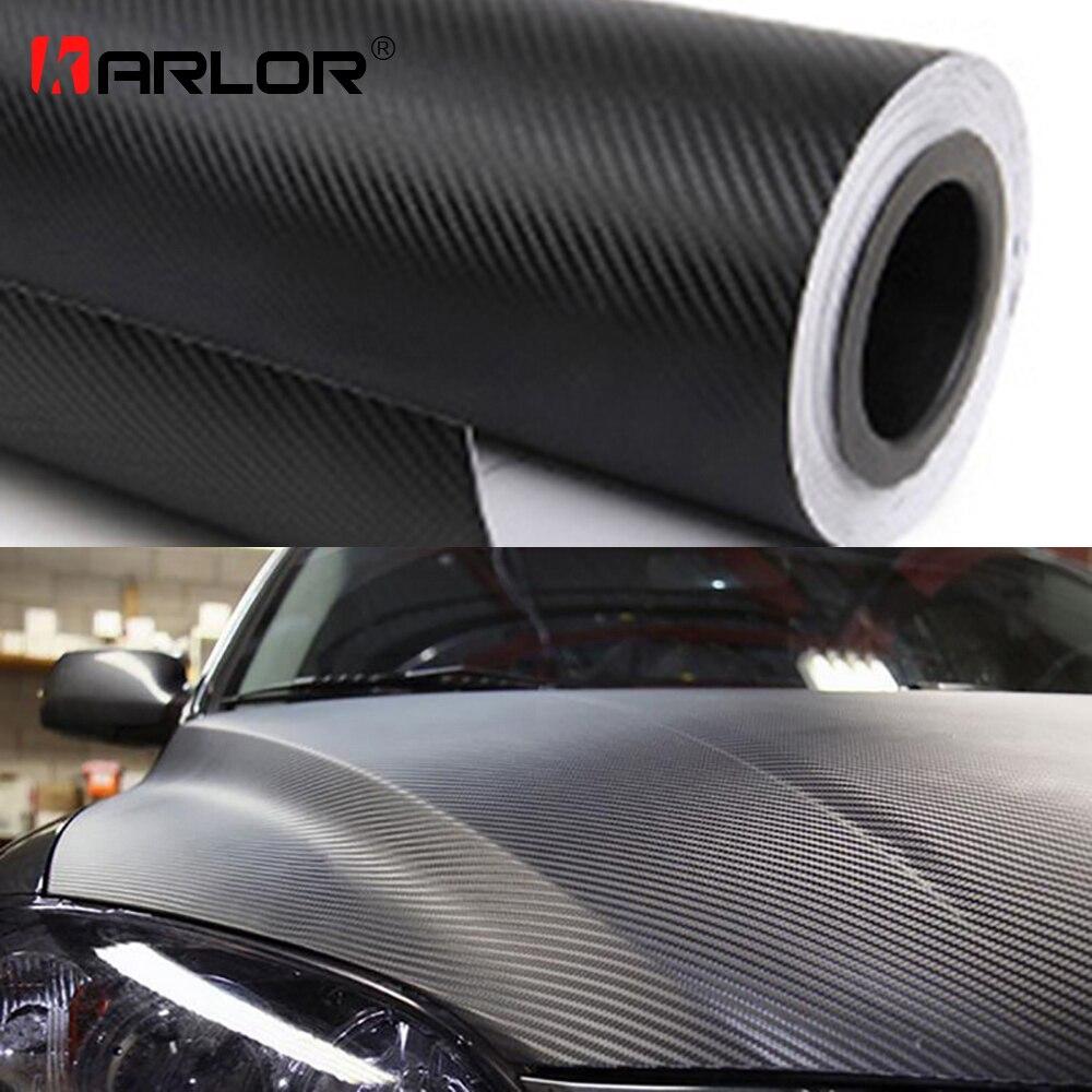 200 cm * 30 cm 3D de fibra de carbono vinilo de la película 3 M coche pegatinas impermeable DIY de la motocicleta coches estilo envoltura Roll Accesorios