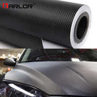 200cm * 30cm 3D Fiber de carbone vinyle Film 3M voiture autocollants étanche bricolage moto Automobiles voiture style Wrap rouleau accessoires