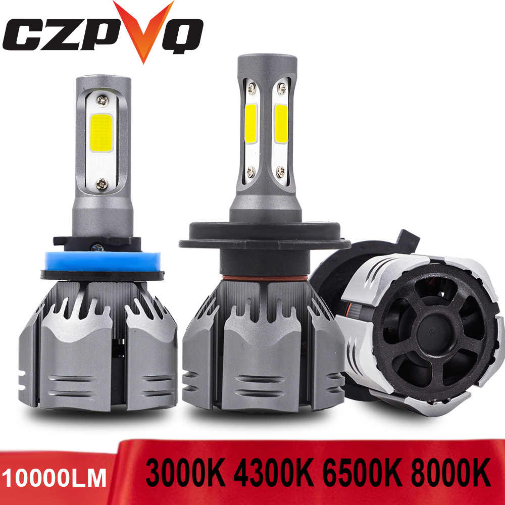 CZPVQ Auto 72W 10000LM H1 H4 H7 H11 LED Lamp 3000K 4300K 6500K 8000K H8 H9 9005 HB3 9006 HB4 880 881 H27 Car Light Front Lamp