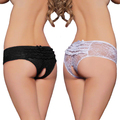 Women's Hot Open Crotch Crotchless 2015 Hot Sex Lace Thong Sexy Panties Massaging Underwear Lingerie