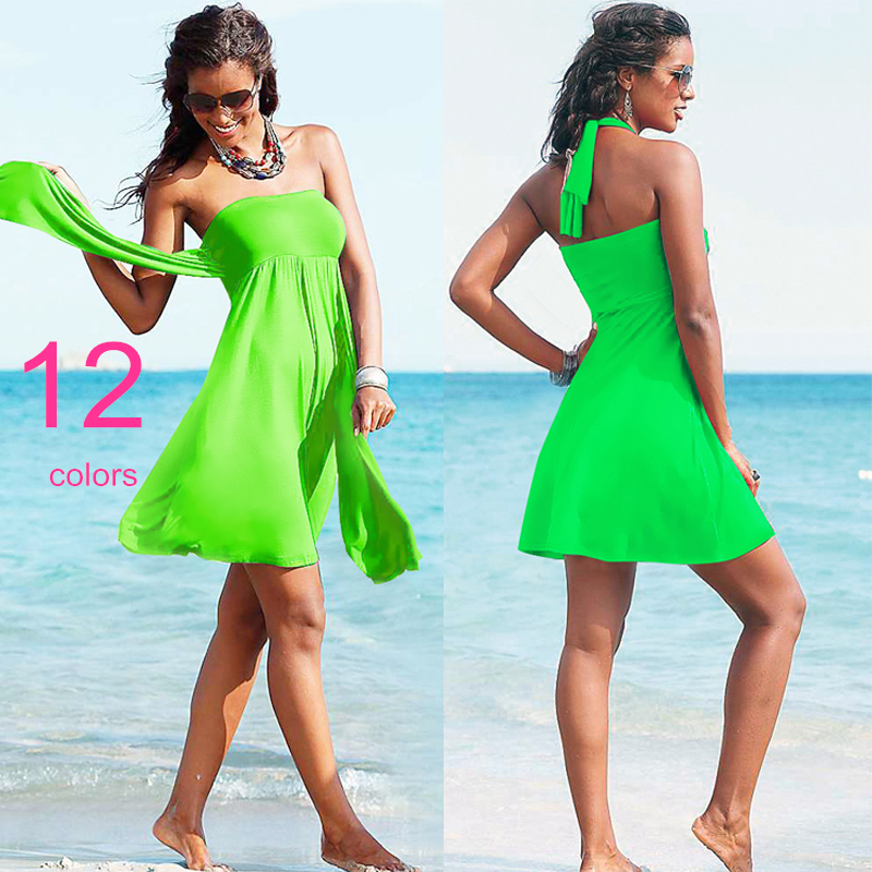 New 12 Colors Beach Dress Rose Red Cover Ups Push Up Womens Swimming & Bathing Suits Hot Sale Hight-Quality