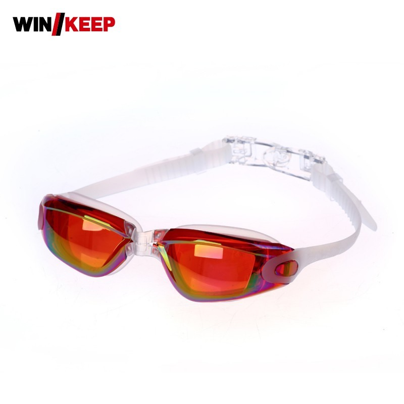 New Arrival Swim Glasses For Adult Professional Anti Fog WaterProof UV Protection Electroplating HD Adjustable Piscine Goggles