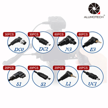 60 * E3 + 60 * DC2 N3 + 30 * + 30 * DC0 + 20 * L1 + 20 * UC1 + 20 * S1 + 20 * S2 Cabo Disparador de Flash