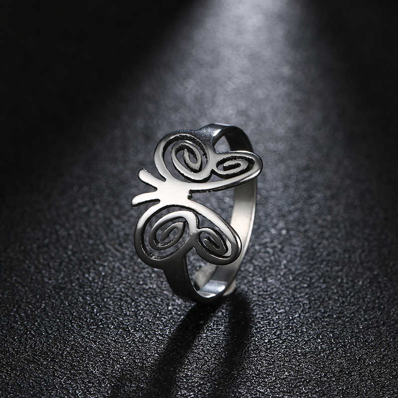 DOTIFI Titanium 316L Stainless Steel Rings For Women Butterfly Engagement Wedding Ring Jewelry