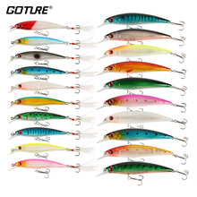 Goture 20 Pcs/lot Best Quality Fishing Lure Set Hard Bait Wobbler Minnow With VMC Hooks and Feather