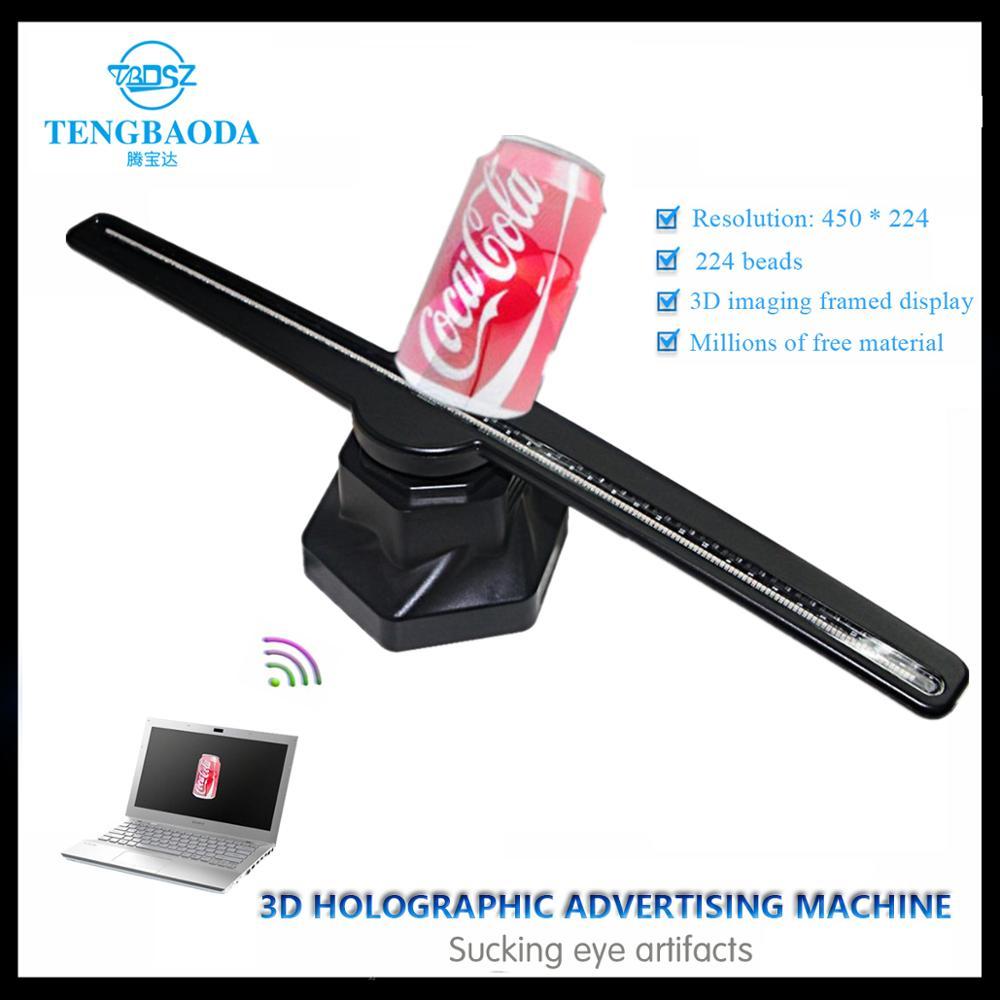 TBDSZ 3D Holograma Publicidade Display LED Imagens Holográficas 3D Olho Nu luz Fã LEVOU Publicidade Display 3d logo Luz Decoração