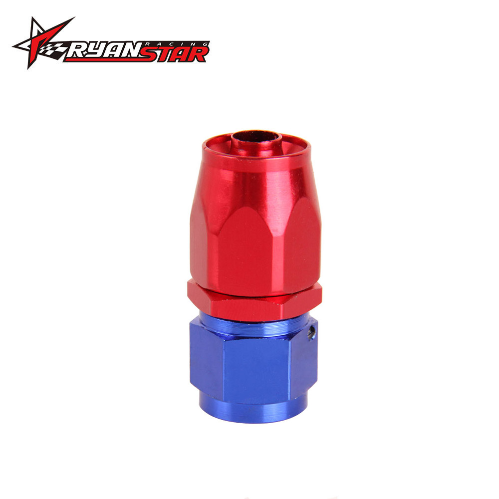 AN-6 AN6 90° Deg Swivel Fuel Oil Gas Line Hose End Fitting Adapter BLACK//RED New