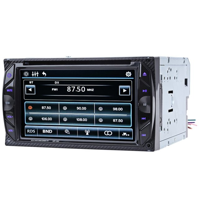 MP3 audio player Universal 6.2 inch Bluetooth V3.0 Auto Radio 2 Din 32GB Car DVD Player In-dash Stereo Video Mic FM MP3/MP4/MP5