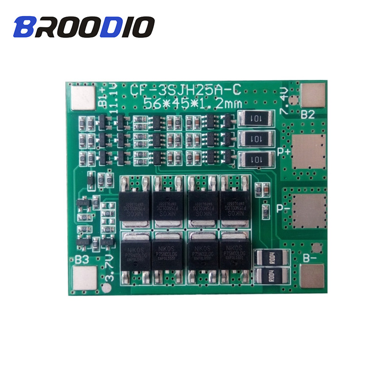Battery Accessories & Charger Accessories Cheap Price 3s 40a For Screwdriver 12v Li-ion 18650 Bms Pcm Battery Protection Board Bms Pcm With Balance Liion Battery Cell Pack Module Power Source