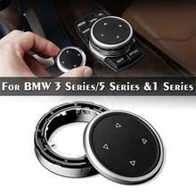 Car Big Multi Media Knob Cover Trim Black Button For BMW F10 F20 F30 iDrive High Quality