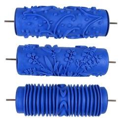 Parede de borracha 3d pintura decorativa rolo modelado ferramentas decoração da parede do rolo sem punho aperto