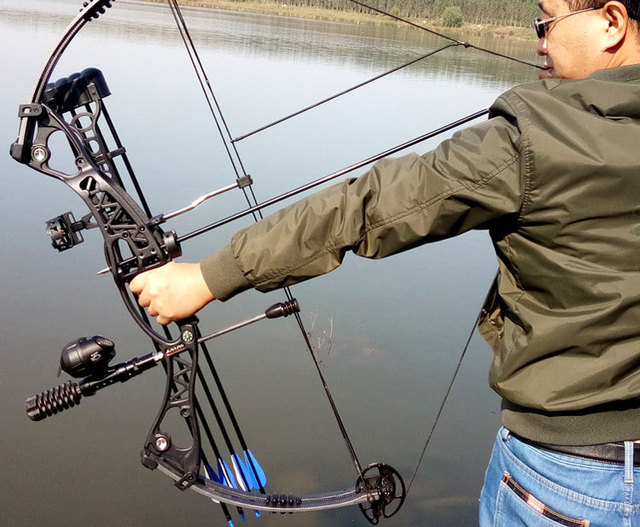 Right Hand And Left Hand Adjustable Archery Hunting And Fishing Compound Bow Sets 3